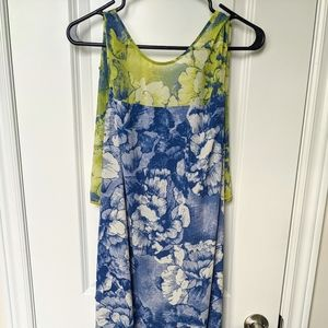 "💛💙 BCBG ""Karian"" pattern long dress 👗"